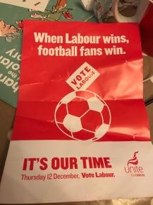 Unite union poster supporting Labour